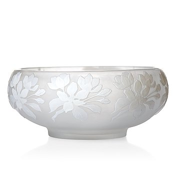 4. Karl Lindeberg, an Art Nouveau cameo glass bowl, Kosta.
