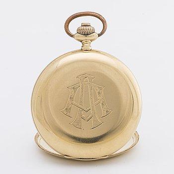FICKUR 18K guld savonett, ca 50 mm, 1900-talets första hälft.