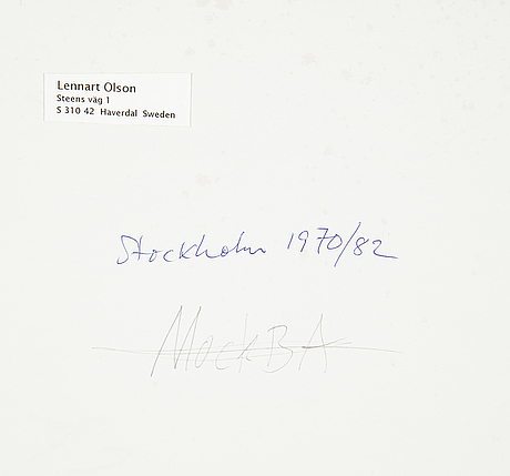 Lennart olson, silver gelatin print mounted on paper cardboard, signed with pencil on verso.