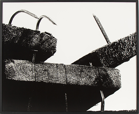 Lennart olson, silver gelatin print mounted on paper cardboard, signed with pencil on verso