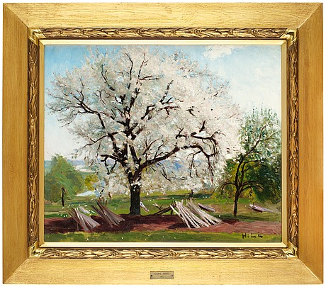 """Carl fredrik hill, """"det blommande fruktträdet""""."""