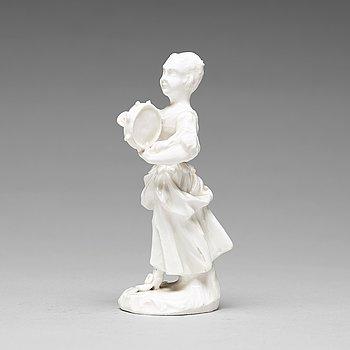 304. A Marieberg soft paste figurine, 18th Century.