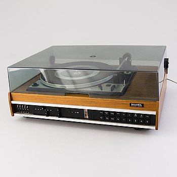 Stereo 3001 Orthoperspecta, Stereo Amplifier, FM-radio and a turntable by Salora Finland.