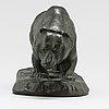 Arvid knöppel, sculpture, bronze. signed, foundry mark otto meyers eftr. fud.