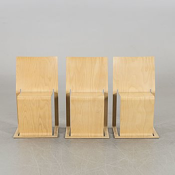 """A SET OF 3 CHAIRS """"VOXIA"""" BY PETER KARPF,I-form."""