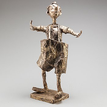 KARL HÖGLUND, skulptur, brons, signerad Karl Höglund och numrerad 13/25.