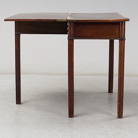 A swedish late gustavian games table, late 18th century.