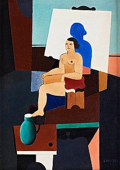 "397. Waldemar Lorentzon, ""Modèle dans l'atelier""."