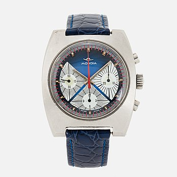 MONDIA, armbandsur, kronograf, 38 x 44 mm.