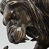 Antoine louis barye, after, sculpture, bronze. height 35 cm, length 42 cm.