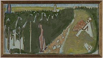 EVE ERIKSSON, olja på duk/pannå, signerad, utförd 1931 i Löderup.