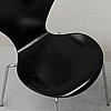 Arne jacobsen, a set of four sjuan chairs