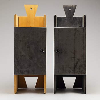 A pair of 'Bröllopsskåp' cabinets by Thomas Sandell signed and numbered 180/200 and 181/200.