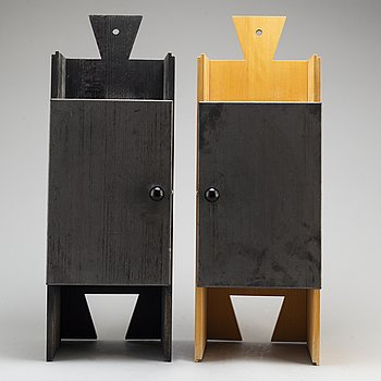 A pair of 'bröllopsskåp' cabinets by Thomas Sandell signed and numbered 188/200 and 193/200.