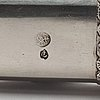 An early 20th century ottoman silver scribe's pen-case / divit, makers mark làtif, before 1909.