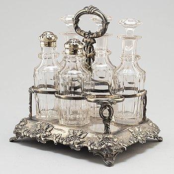 BORDSSURTOUT, 1800-talets slut, nysilver.