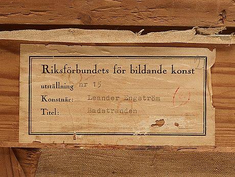 """Leander engström, """"badstranden""""."""