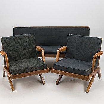 OLAVI HÄNNINEN, A 3-piece 1960s 'Bumerang' sofa suite for HMN Huonekalu Mikko Nupponen, Lahti, Finland.