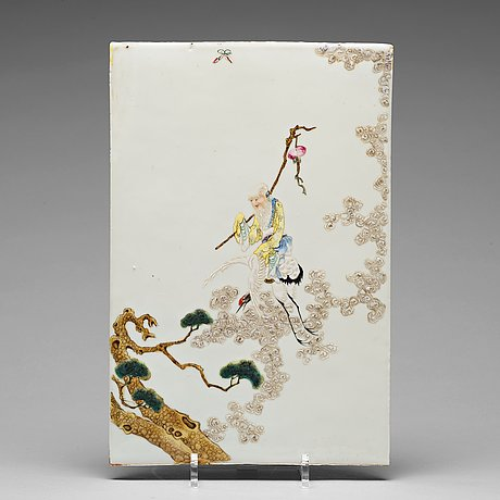 A fine chinese porcelain placque, about 1900.