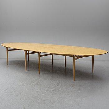 """BRUNO MATHSSON & PIET HEIN, matbord, """"Superellips"""", 1900-talets slut, Bruno Mathsson International."""