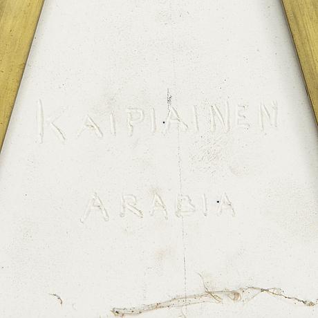 Birger kaipiainen, dekorationsfat, stengods, signerad kaipiainen arabia.