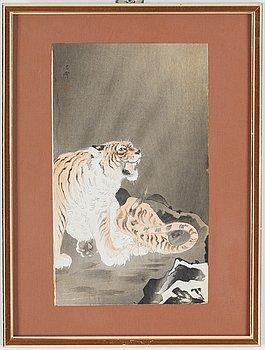 KOSON OHARA (1877-1945), color woodblock print. Japan, 20th century.