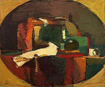 GERHARD NORDSTRÖM, olja på pannå, signerad. 1950-tal.
