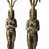 Kandelabrar, ett par, sengustavianska, omkring år 1800.