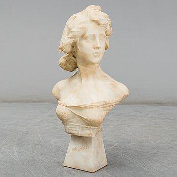 EMILIO FIASCHI, skulptur, alabaster, signerad E. Fiaschi.