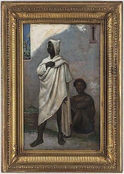 LOUIS HIPPOLYTE MOUCHOT, olja på duk, signerad och daterad 76.