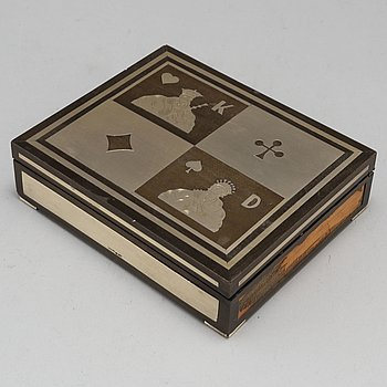 TENN & SILVER AB. A silver and wood box. Gothenburg 1948.