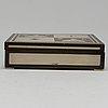 Tenn & silver ab. a silver and wood box. gothenburg 1948