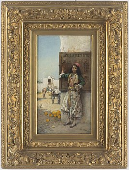 PHILIPPE PAVY, attributed to oil on panel, signed and dated Tunis, 1889.