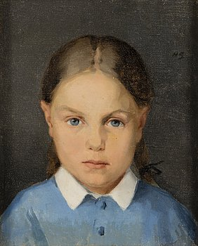 HELENE SCHJERFBECK, GIRL WITH BRAIDS.