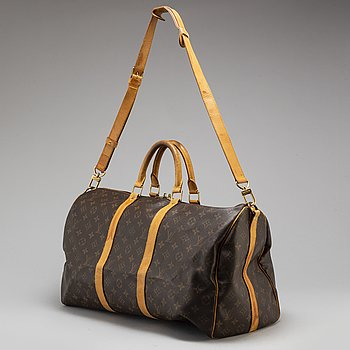 "LOUIS VUITTON, weekendbag ""Keepall Bandouliere 50""."