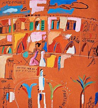"611. Madeleine Pyk, ""Place Garibaldi, Turin""."