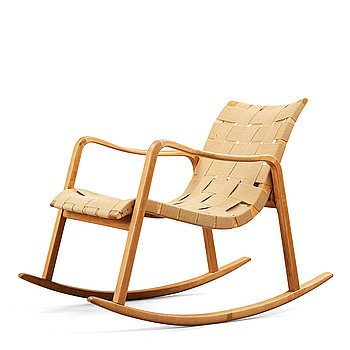 AXEL LARSSON, a rocking chair for Bodafors, Sweden 1930's-40's.