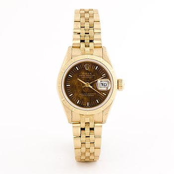 "ROLEX, Datejust, ""Wood dial"", armbandsur, 26 mm."