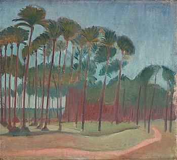 """424. Ivan Aguéli, """"Palmlund"""" (Palm grove)."""