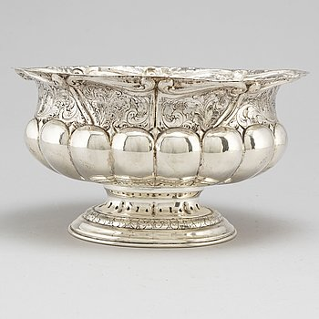 An end of the 19th Century 800 silver bowl.