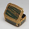 A 19th century gold and agate snuff-box. louis xv-style.