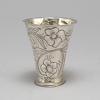 SVEN NYBERG, bägare, silver, Varberg 1778.