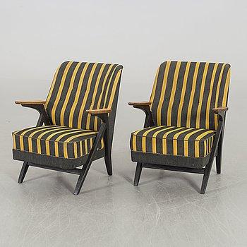 A piar of Stjernemöbler armchairs 1950's.