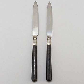 ANDERS NILSSON, fruktknivar 12 st, silver, Lund 1904-5.
