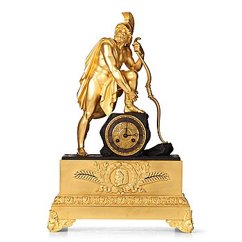 139. A French Empire early 19th century mantel clock.