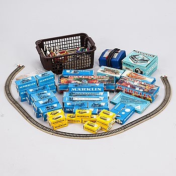 A 44+ piece train set collection, Märklin, Germany, second half of the 20th century.