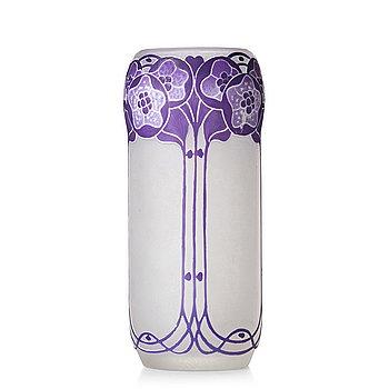 1. Fritz Blomqvist, an Art Nouveau cameo glass vase, Orrefors, Sweden ca 1915.