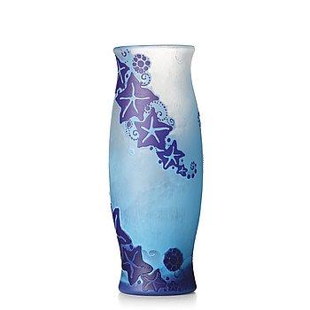 3. Fritz Blomqvist, an Art Nouveau cameo glass vase, Orrefors, Sweden ca 1915.