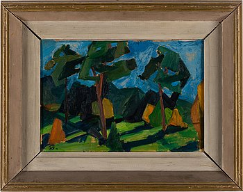 LENNART RODHE, oil on paper, signed with monogram and dated 1943.
