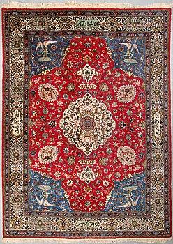 A CARPET, Old Tabriz, around 374 x 279 cm.